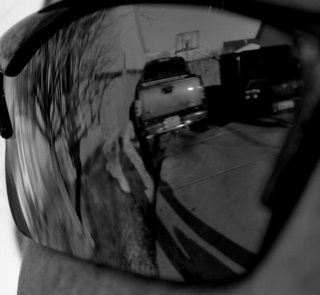shadows through sunglasses