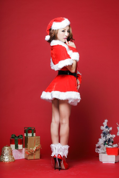 -SNY-0239-Lingerie-sexy-red-Christmas-dress-uniforms-suit-role-playing-game-portrait-photography-