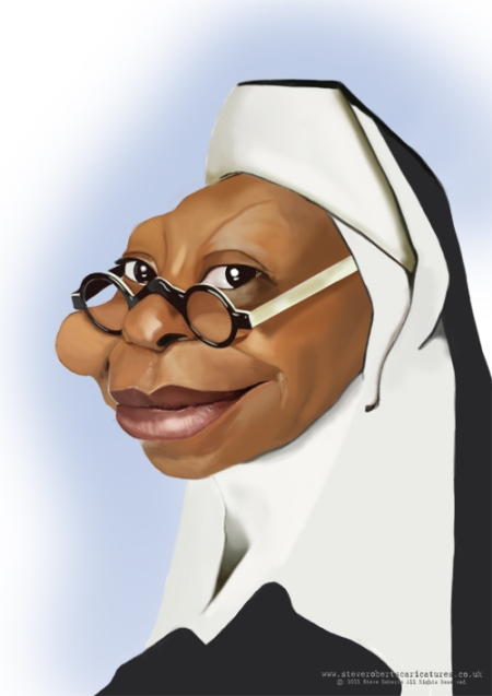 Whoopi Goldberg caricature copy