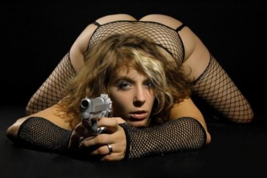 Hot ass women with guns big boobs