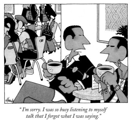 william-haefeli-i-m-sorry-i-was-so-busy-listening-to-myself-talk-that-i-forgot-what-i-w-new-yorker-cartoon