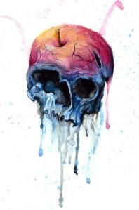 apple,hand,illustration,skull,watercolour-b75e558f37c0f3c72553aaf37ff83ae6_h