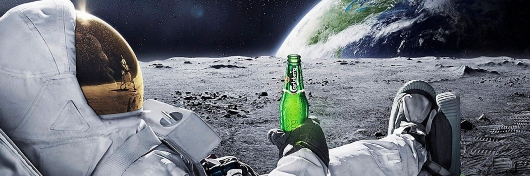 astronaut drinking beer in space-#6