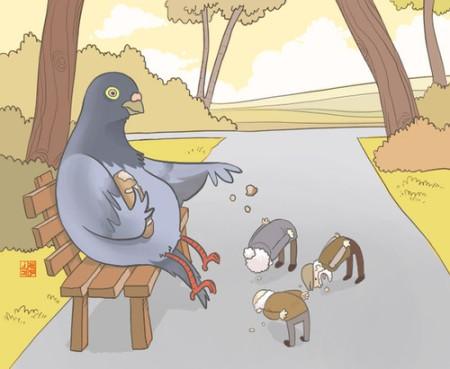 illustration,animals,funny,dove,painting,pidgeon-aafbbddf36f99f2bae23975b2f355150_h