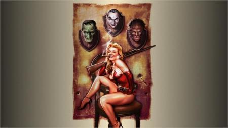 living-room-home-wall-decoration-fabric-poster-font-b-girl-b-font-dracula-halloween-gun-werewolf